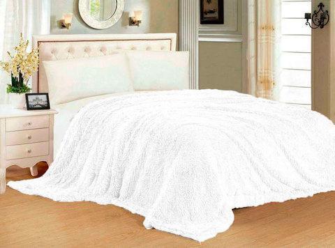 Плед-покрывало с длинным ворсом «Травка» Blumarine (Белый), фото 2