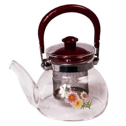 Чайник заварочный стеклянный с фильтром Tea and coffee Pot (550 мл), фото 2