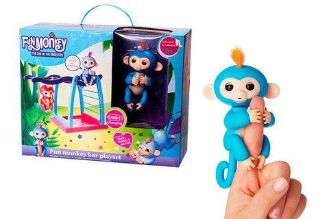 Интерактивная игрушка-обезьянка Fun Monkey (Черный)
