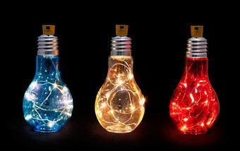 Светильник светодиодный «Большая лампочка» (Голубой), фото 3