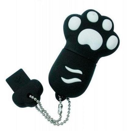 Флешка USB «Кошачья лапка» в силиконовом корпусе (64 Гб), фото 2