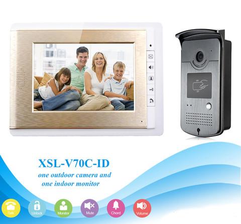 Видеодомофон цветной SMART XSL-V70С-ID (с ключами-магнитами)