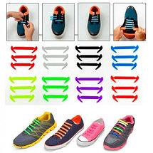Шнурки силиконовые Good-Bye Tie {8+8} (Синий), фото 3