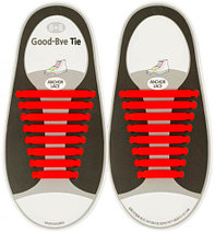 Шнурки силиконовые Good-Bye Tie {8+8} (Синий), фото 2