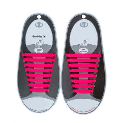 Шнурки силиконовые Good-Bye Tie {8+8} (Розовый), фото 2