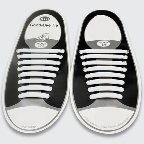 Шнурки силиконовые Good-Bye Tie {8+8} (Белый)