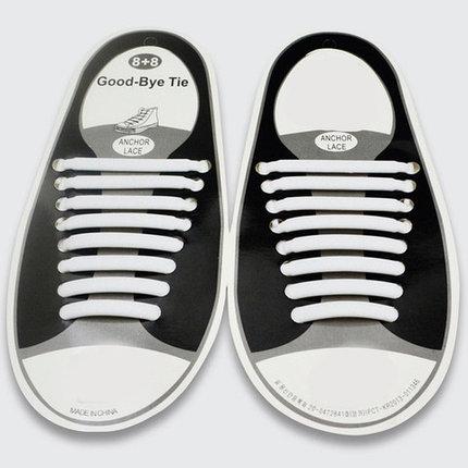Шнурки силиконовые Good-Bye Tie {8+8} (Белый), фото 2
