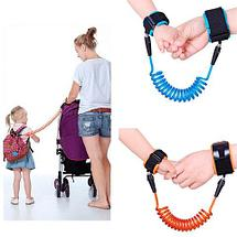Ремень-шлейка страховочный на запястье для ребенка Lost Link (Оранжевый / 2,5 метра), фото 2
