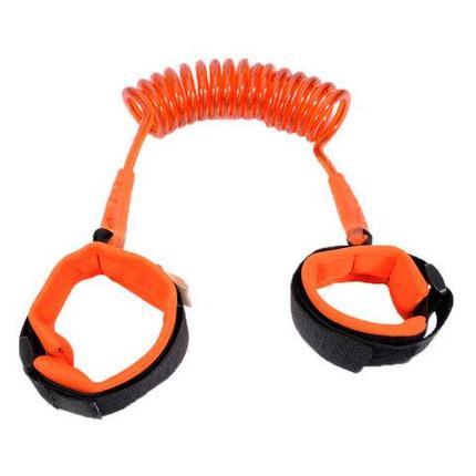 Ремень-шлейка страховочный на запястье для ребенка Lost Link (Оранжевый / 1,5 метра), фото 2