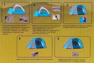 Палатка 3-х местная туристическая LANYU LY-1705 | LY-1703 (LY-1705), фото 2