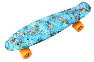 Скейт Penny Board {Пенни Борд} на алюминиевой платформе (С принтом), фото 2