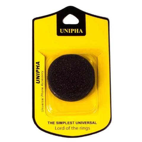Подставка-держатель для смартфона PopSockets [ПопСокетс] UNIPHA (Черный)