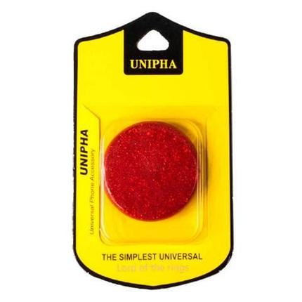 Подставка-держатель для смартфона PopSockets [ПопСокетс] UNIPHA (Красный), фото 2