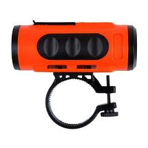 Фонарь-колонка портативный RITMIX SP-520BC (оранжевый с черным), фото 2