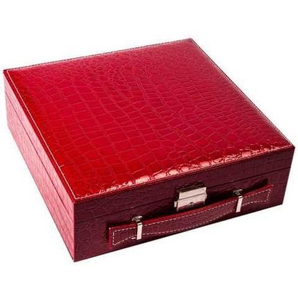 Кейс-шкатулка для ювелирных украшений (Красный), фото 2