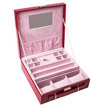 Кейс-шкатулка для ювелирных украшений (Красный), фото 3