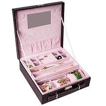 Кейс-шкатулка для ювелирных украшений (Малиновый), фото 2