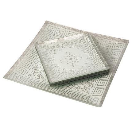 Набор посуды для сервировки стола Royal Glass [7 предметов] (Серебряные узоры), фото 2