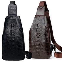 Мужская сумка-рюкзак через плечо Alligator (Черный), фото 2