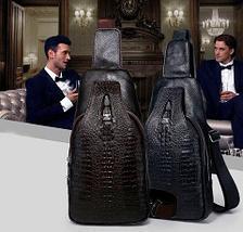 Мужская сумка-рюкзак через плечо Alligator (Черный), фото 3