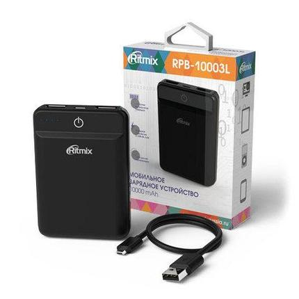 Аккумулятор внешний Powerbank RITMIX RPB-10003L {10000 мАч} (Черный), фото 2