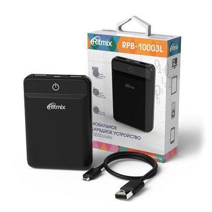 Аккумулятор внешний Powerbank RITMIX RPB-10003L {10000 мАч} (Белый), фото 2