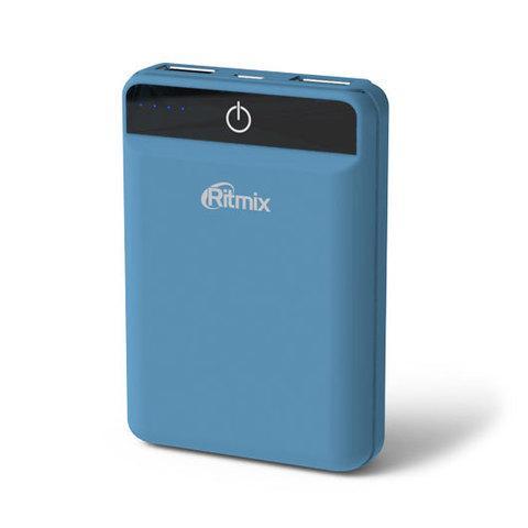 Аккумулятор внешний Powerbank RITMIX RPB-10003L {10000 мАч} (Дымчато-синий)