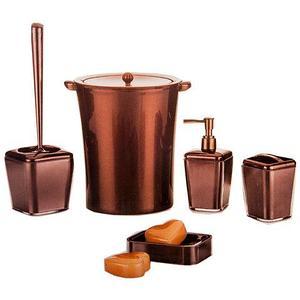 Набор аксессуаров для ванной комнаты 5 в 1 VIOLET house (Шоколадный)