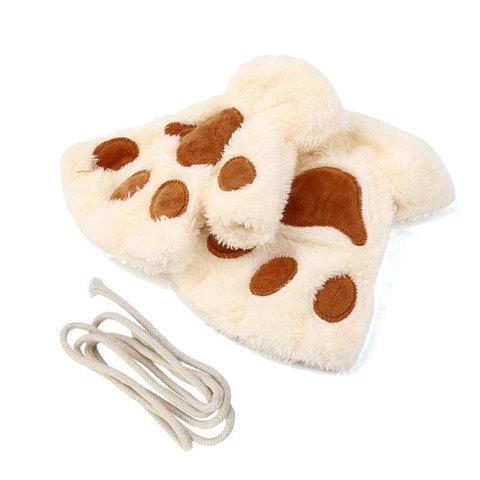 Варежки-перчатки «Кошачьи лапки» (Белый)