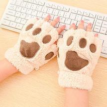 Варежки-перчатки «Кошачьи лапки» (Белый), фото 3
