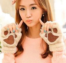 Варежки-перчатки «Кошачьи лапки» (Белый), фото 2