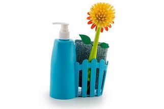 Набор для мытья посуды FLOWER FENCE BRUSH (Розовый), фото 3