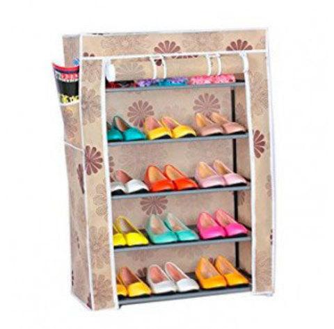 Шкаф для обуви складной тканевый Shoe Rack And Wardrobe {4-9 полок} (4 яруса - YQF-1145)