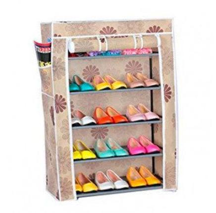 Шкаф для обуви складной тканевый Shoe Rack And Wardrobe {4-9 полок} (4 яруса - YQF-1145), фото 2