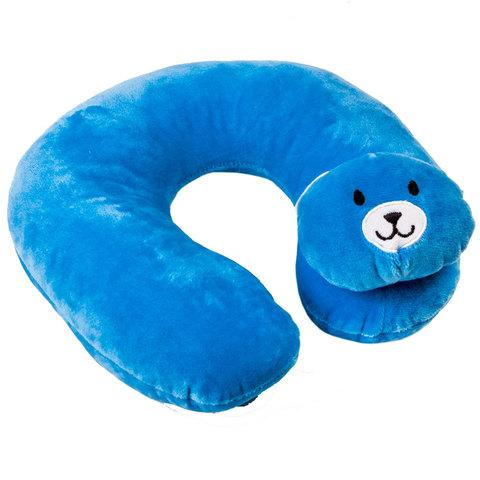 Подушка-подголовник дорожная для детей KANGSHENG (Мятный медвежонок)