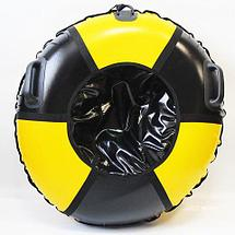 Санки надувные для тюбинга «Ватрушка Быстрик» под автомобильную камеру (110 см / Мяч), фото 2