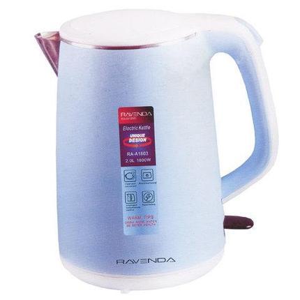Чайник электрический RAVENDA RA-A1803 [2 л] (Голубой), фото 2
