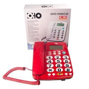Телефонный аппарат с крупными кнопками и громкой связью OHO 5006CID (Черный)