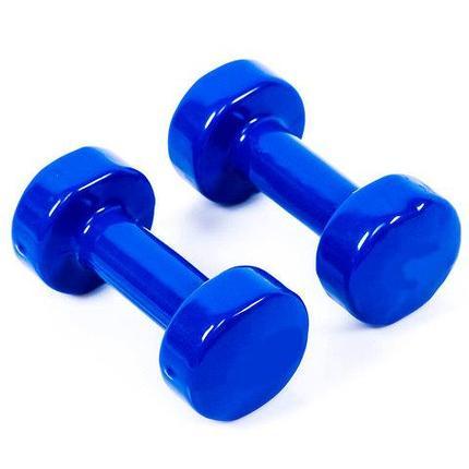 Гантели с виниловым покрытием для фитнеса {пара} (4LB (2 кг)), фото 2