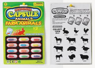 Игровой набор «Растущие животные в капсуле» {12 капсул} (Ферма)