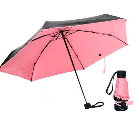 Зонт карманный универсальный Mini Pocket Umbrella (Розовый)