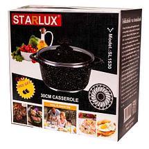 Кастрюля с мраморным покрытием STARLUX со стеклянной крышкой + прихватки в подарок! (30 см), фото 3