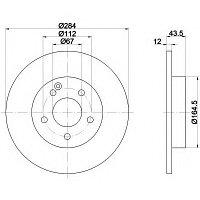Тормозные диски Mercedes C-Class C180 W202 (передние, невент., Mintex)