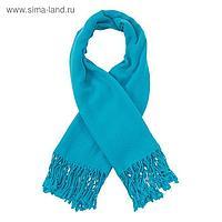 Платок текстильный, размер 100х100, цвет голубой F518_23