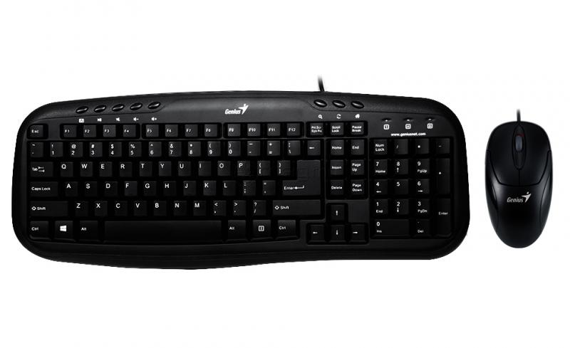 Genius KM-210 Клавиатура+ мышка USB, Black, RU, CB, 31330219102