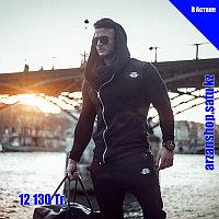 Куртка с косым замком Body Engineers черная, фото 1