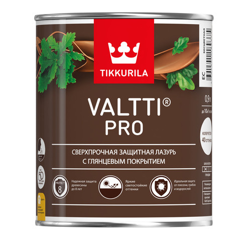 Valtti Pro - Сверхпрочная защитная лазурь с глянцевым покрытием