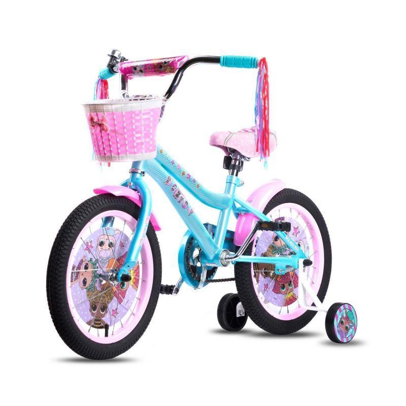 """Navigator: Велосипед L.O.L. 2-х колёсный, диаметр колёс 14"""", 2 боковые колеса"""