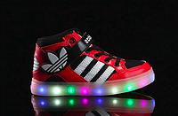 Детские кроссовки Adidas с LED подсветкой, фото 1