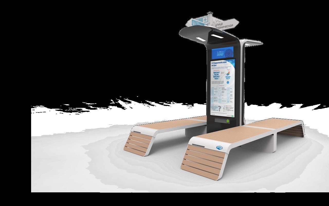 Уличные Интерактивные скамейки ''Tehno-Sky''